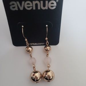 Avenue pink & gold dangle earrings